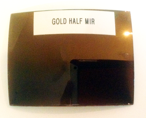 Mirror Coating Lenses: Gold Half Color